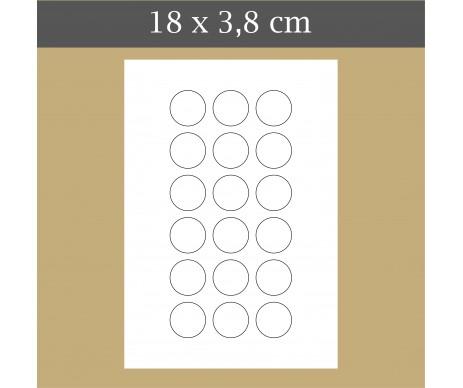 Custom icing edible image 18x3.8 cm