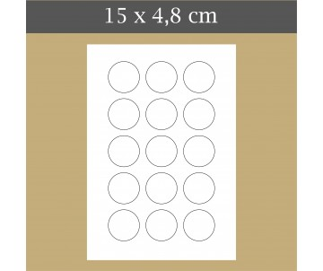 Custom icing edible image 15x4.8 cm