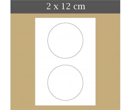 Custom icing edible image 2 x 12 cm